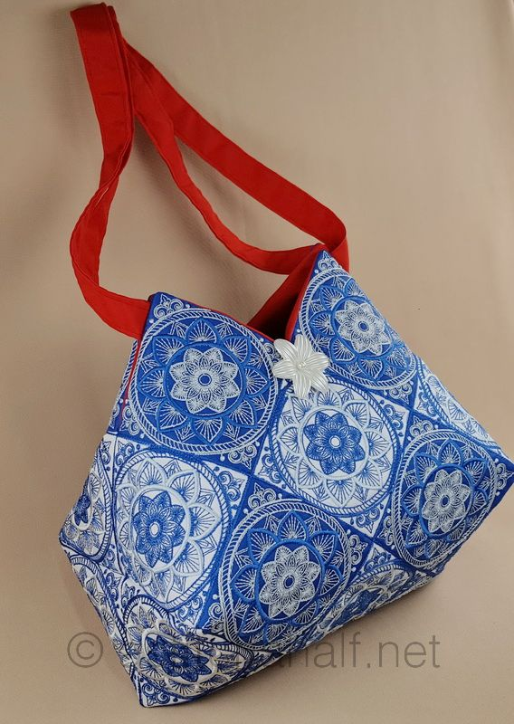 Traditional Talavera Blocks and Tote Bag - a-stitch-a-half
