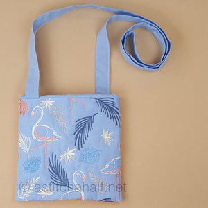 Flamingo in Brush Strokes Cross Body Bag - a-stitch-a-half