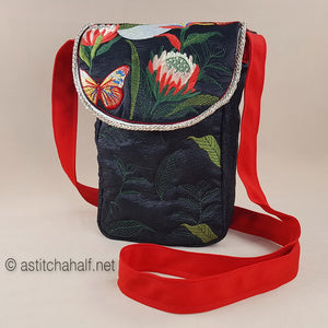 Proteas at full Moon Satchel Bag - a-stitch-a-half
