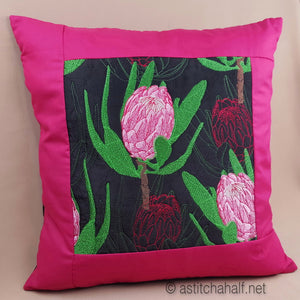 Protea Harmony Decorative Pillow Designs - a-stitch-a-half