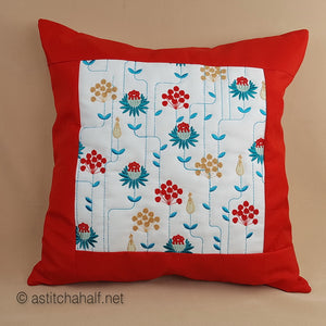Garden Geometric Decorative Pillow Designs - a-stitch-a-half