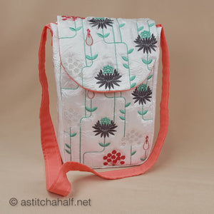Garden Geometric Satchel Bag - a-stitch-a-half