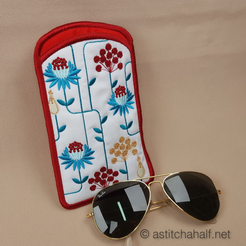 Newlook Garden Geometric Eyeglass Case - a-stitch-a-half