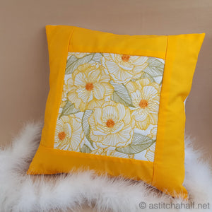 Sweet Sunshine Decorative Pillow Designs - a-stitch-a-half