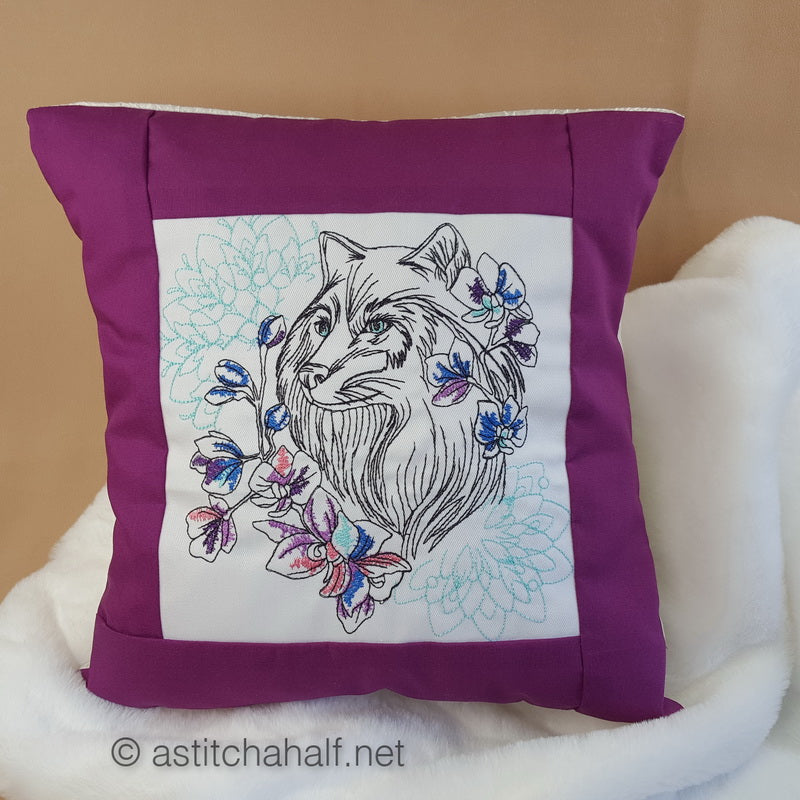 Wild Winter Decorative Pillow Designs - a-stitch-a-half