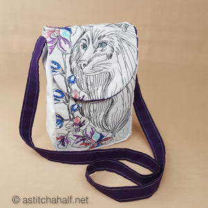 Wild Winter Satchel Bag - a-stitch-a-half