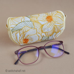 Sweet Sunshine Newlook and ITH Eyeglass Cases - a-stitch-a-half