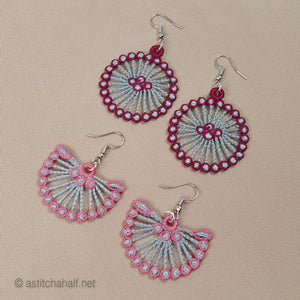 Mildred Freestanding lace Earrings - a-stitch-a-half