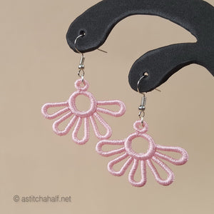 Virginia Freestanding Lace Earrings - a-stitch-a-half