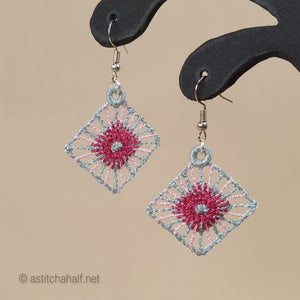 Yerim Freestanding Lace Earrings - a-stitch-a-half