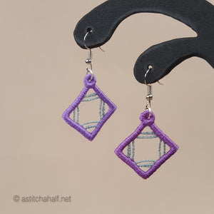Gladis Freestanding Lace Earrings - a-stitch-a-half