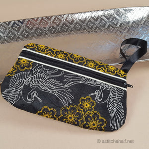 Japanese Crane ITH Wrist Purse