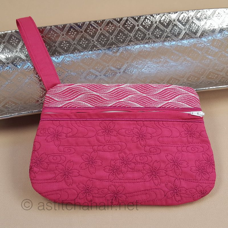Sashiko Lily Waters Wrist Purse