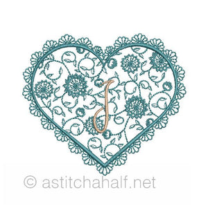 French Lace Monogram A through Z