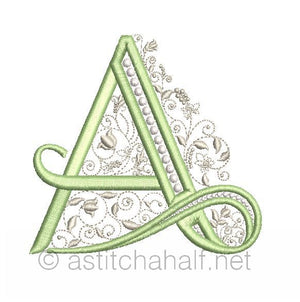 French Knot Monogram A