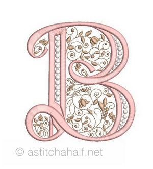 French Knot Monogram B