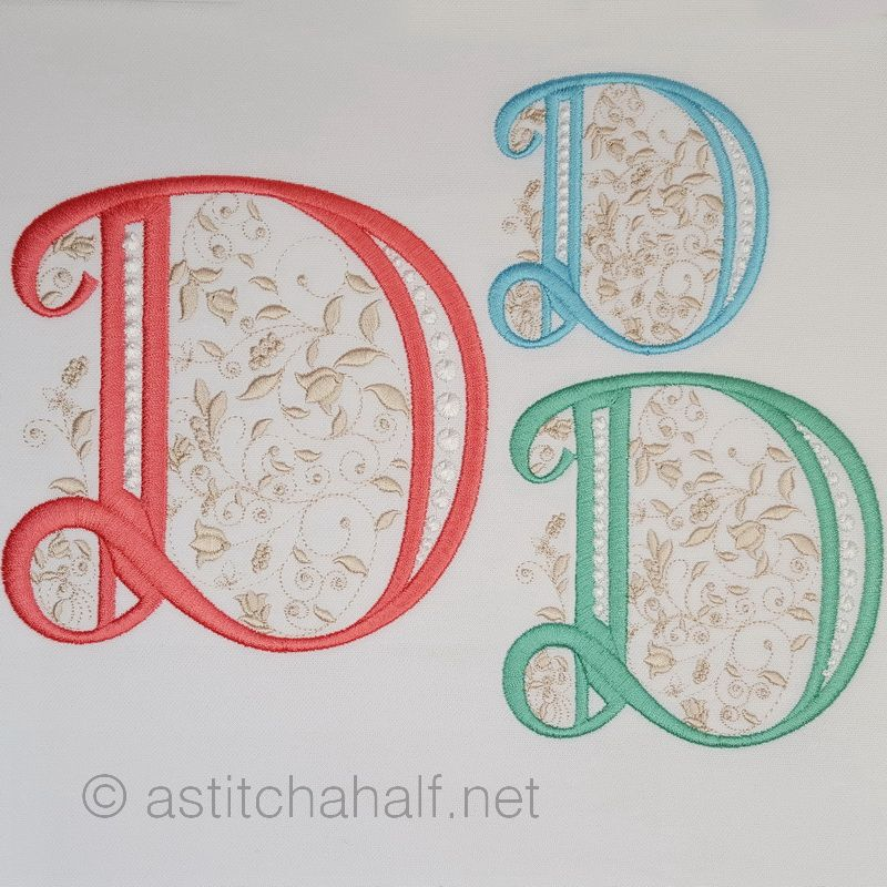 French Knot Monogram D