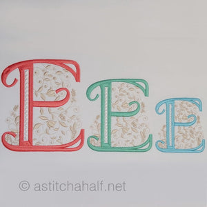 French Knot Monogram E