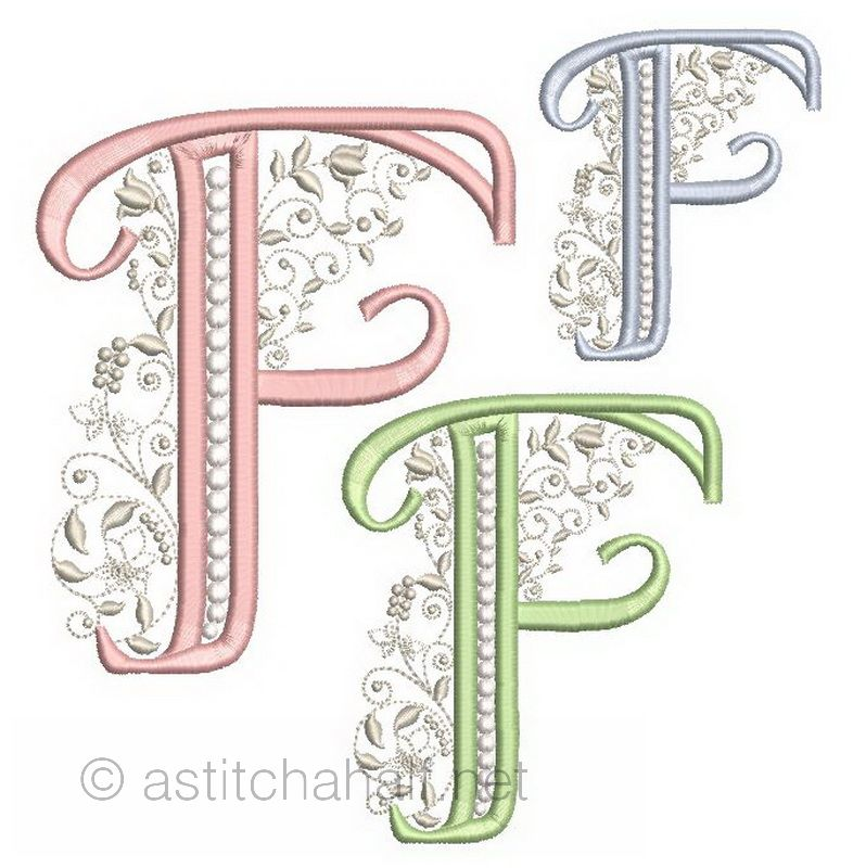 French Knot Monogram F