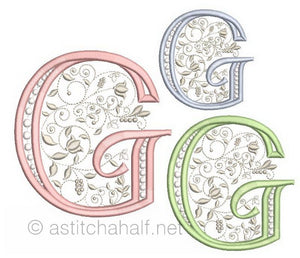French Knot Monogram G