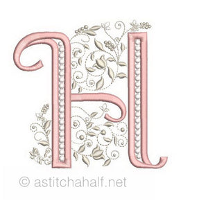 French Knot Monogram H