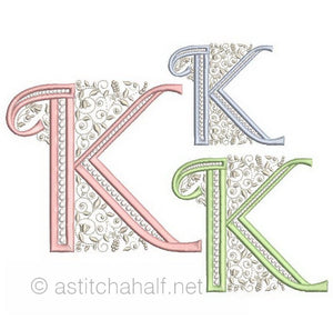 French Knot Monogram K