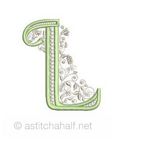 French Knot Monogram L