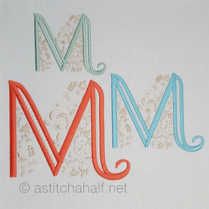 French Knot Monogram M