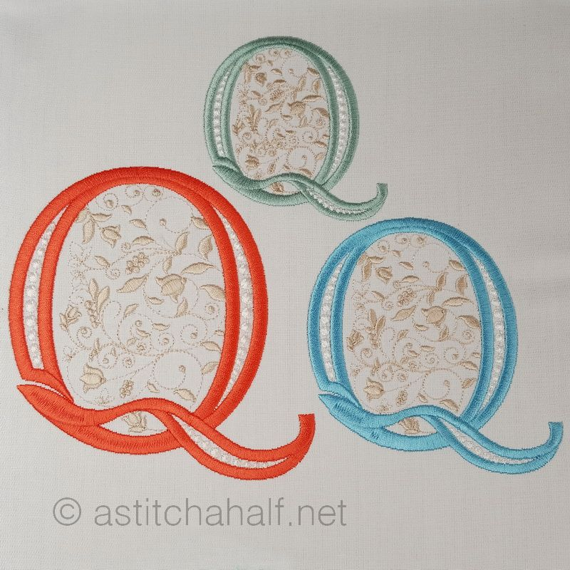 French Knot Monogram Q
