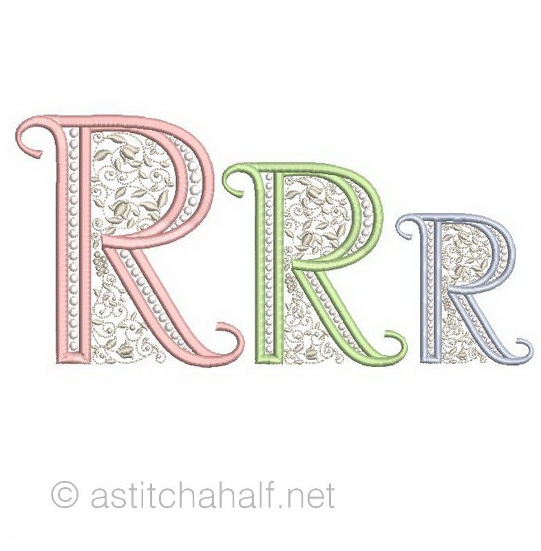 French Knot Monogram R