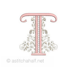 French Knot Monogram T
