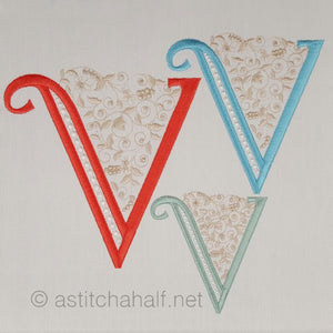French Knot Monogram V