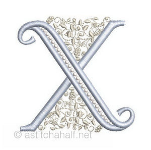 French Knot Monogram X