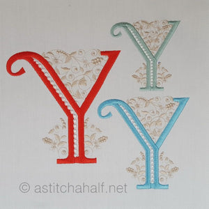 French Knot Monogram Y