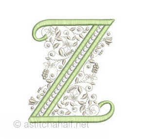 French Knot Monogram Z