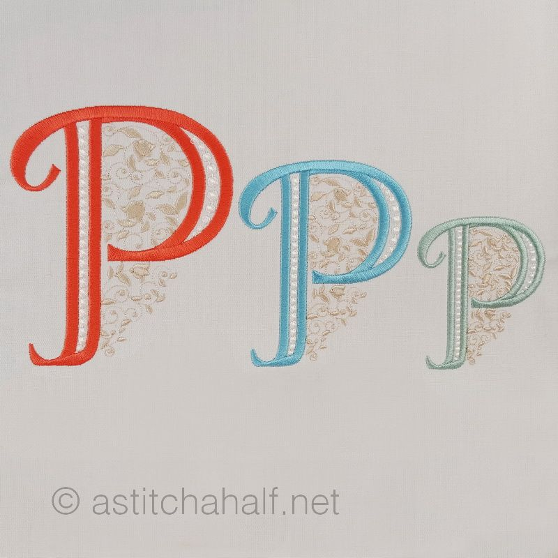 French Knot Monogram P