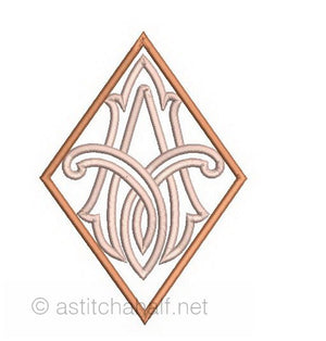 Richelieu Cutwork Monogram A