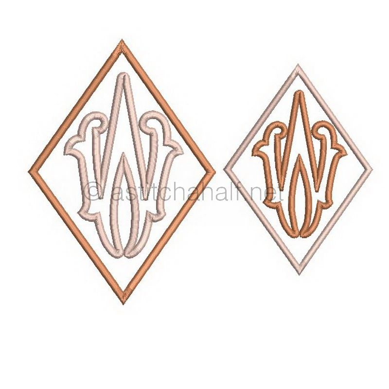 Richelieu Cutwork Monogram W