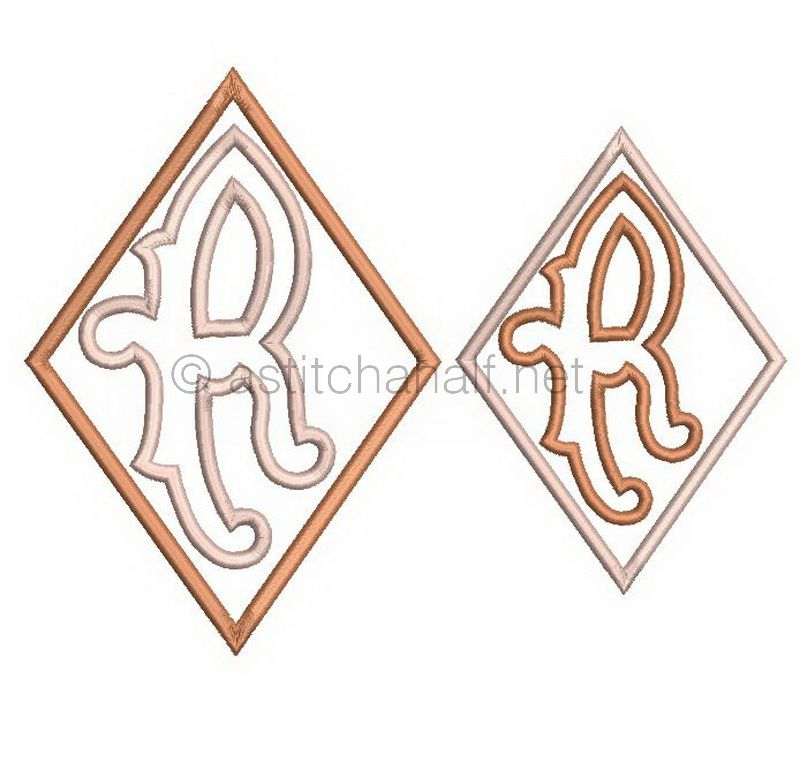 Richelieu Cutwork Monogram R