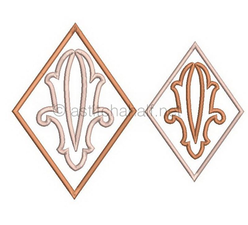 Richelieu Cutwork Monogram V