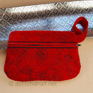 Dream of Roses Zipper Purse