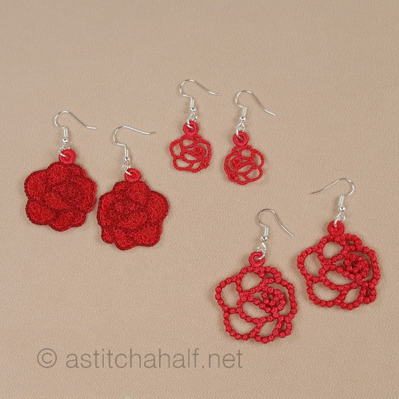 Dream of Roses Freestanding Lace Earrings