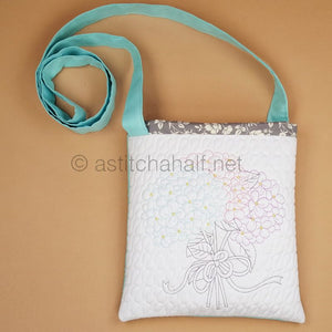 Gentle Blooming Hydrangea Cross Body Bag