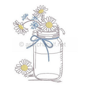 The Humble Mason Jar with Chamomile and Cornflowers Combo