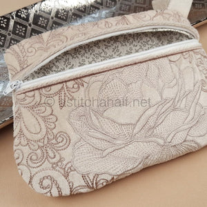 La Bella Rosa Zipper Purse