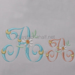 Summer Dance Monogram Letter A