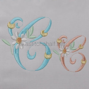 Summer Dance Monogram Letter C