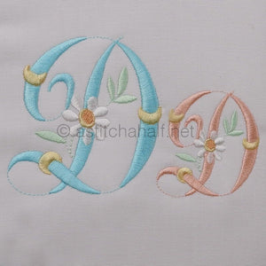 Summer Dance Monogram Letter D