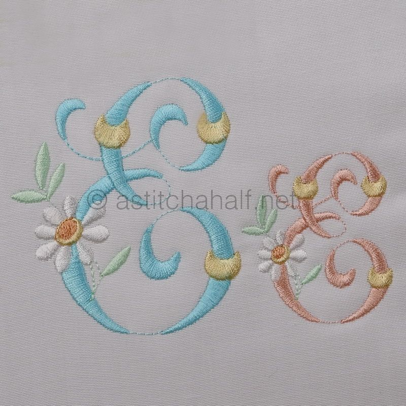Summer Dance Monogram Letter E