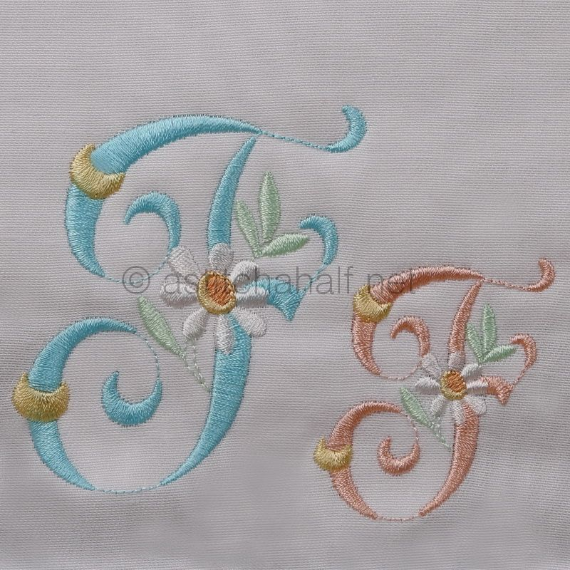 Summer Dance Monogram Letter F